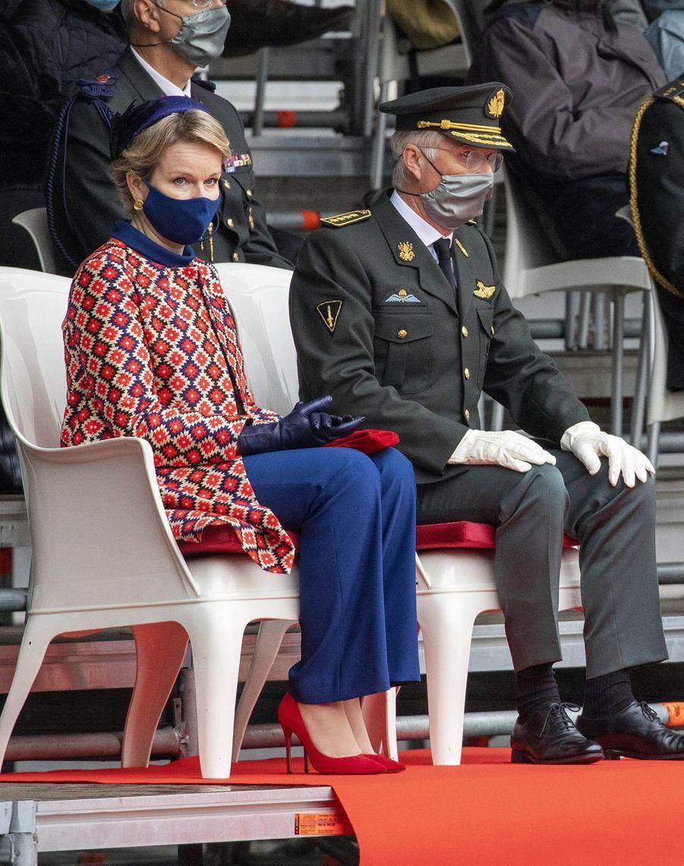 La reine Mathilde et le roi des Belges Philippe à Bruxelles, le 25 septembre 2020