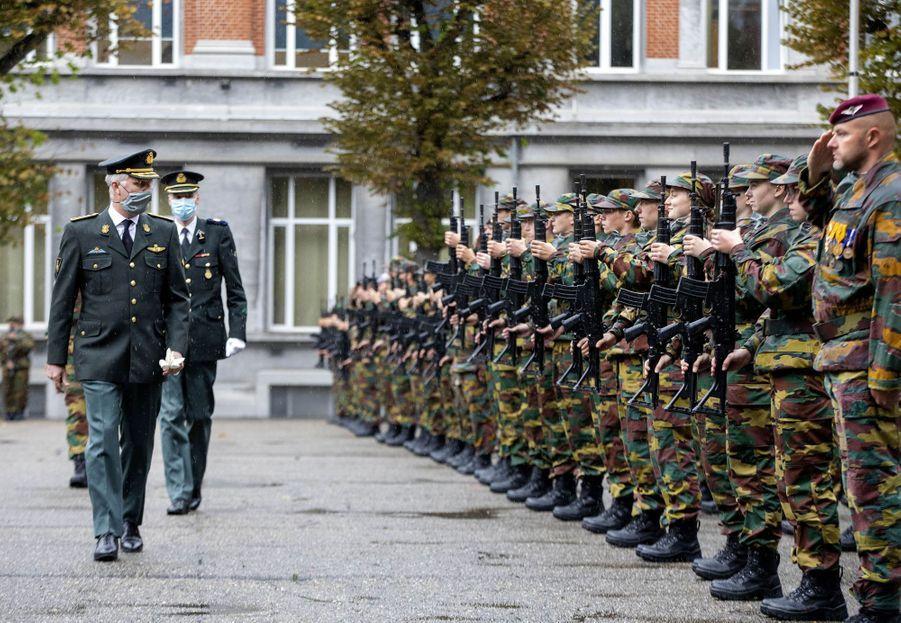 Le roi des Belges Philippe et la princesse Elisabeth de Belgique à Bruxelles, le 25 septembre 2020