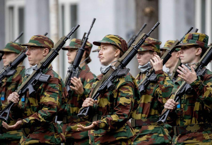 La princesse Elisabeth de Belgique à l'Ecole royale militaire à Bruxelles, le 25 septembre 2020