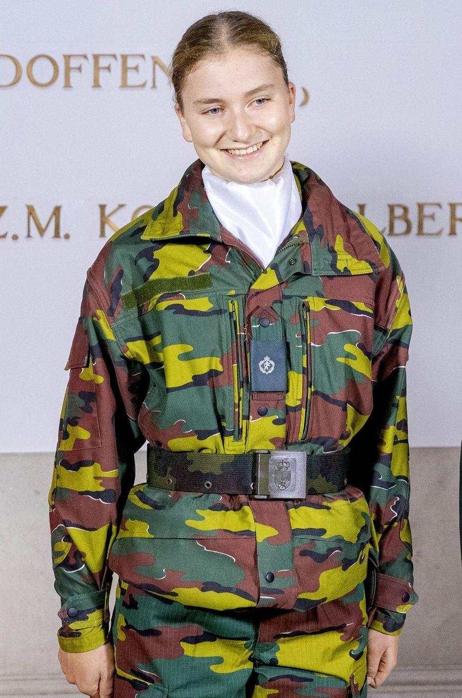 La princesse héritière Elisabeth de Belgique à Bruxelles, le 8 octobre 2020