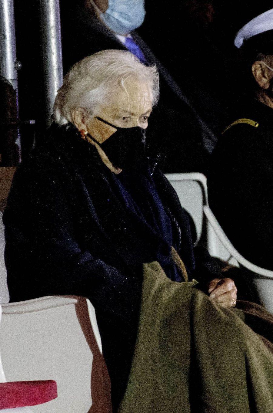 L'ex-reine des Belges Paola à Bruxelles, le 8 octobre 2020