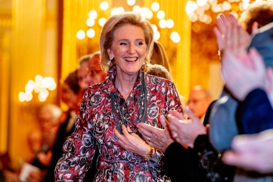 La princesse Astrid de Belgique à Bruxelles, le 19 décembre 2018