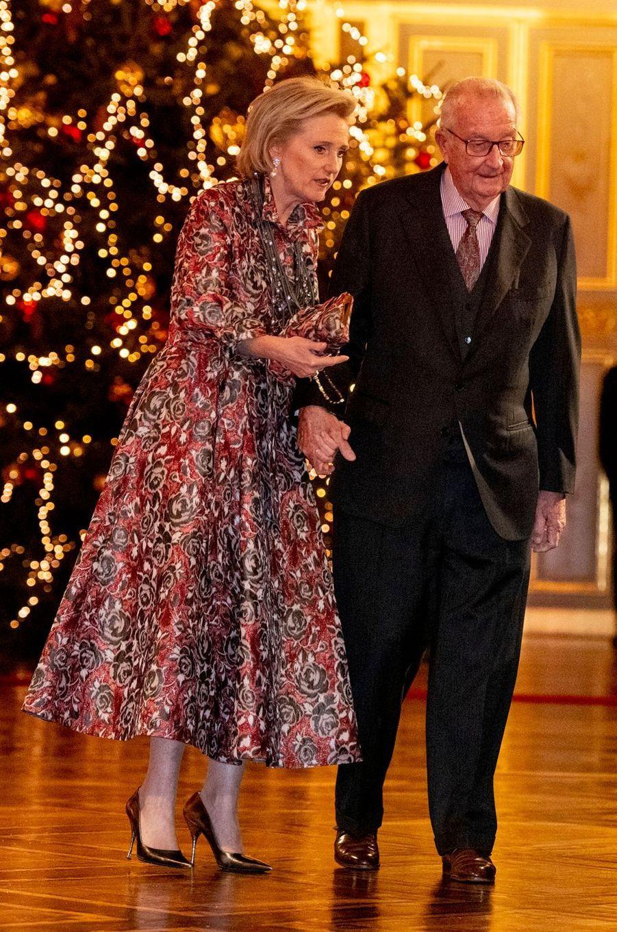 La princesse Astrid et son père l'ex-roi des Belges Albert II à Bruxelles, le 19 décembre 2018