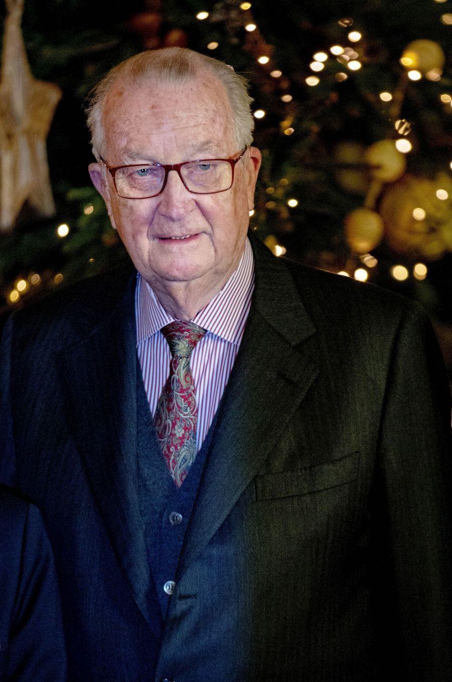 L'ex-roi des Belges Albert II à Bruxelles, le 19 décembre 2018