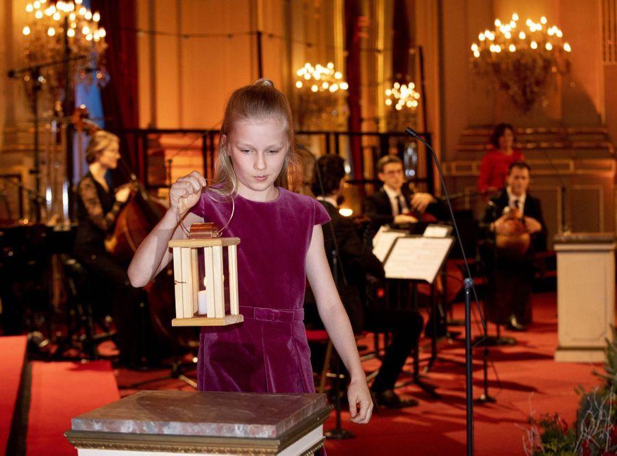 La princesse Eléonore de Belgique à Bruxelles, le 19 décembre 2018