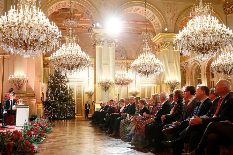 La famille royale de Belgique à Bruxelles, le 19 décembre 2018