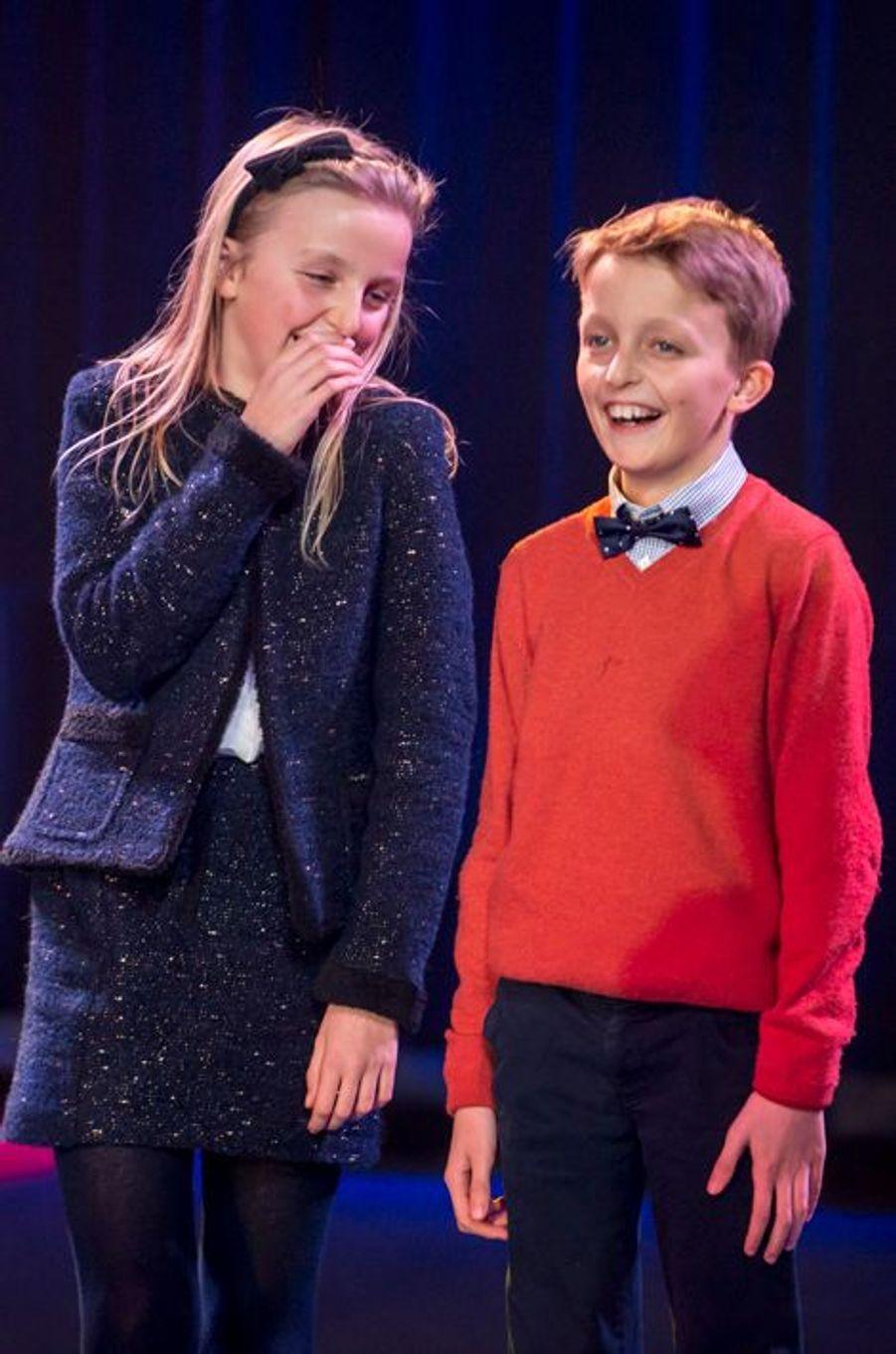 La princesse Louise et le prince Aymeric de Belgique au cirque Bouglione à Bruxelles, le 5 décembre 2015