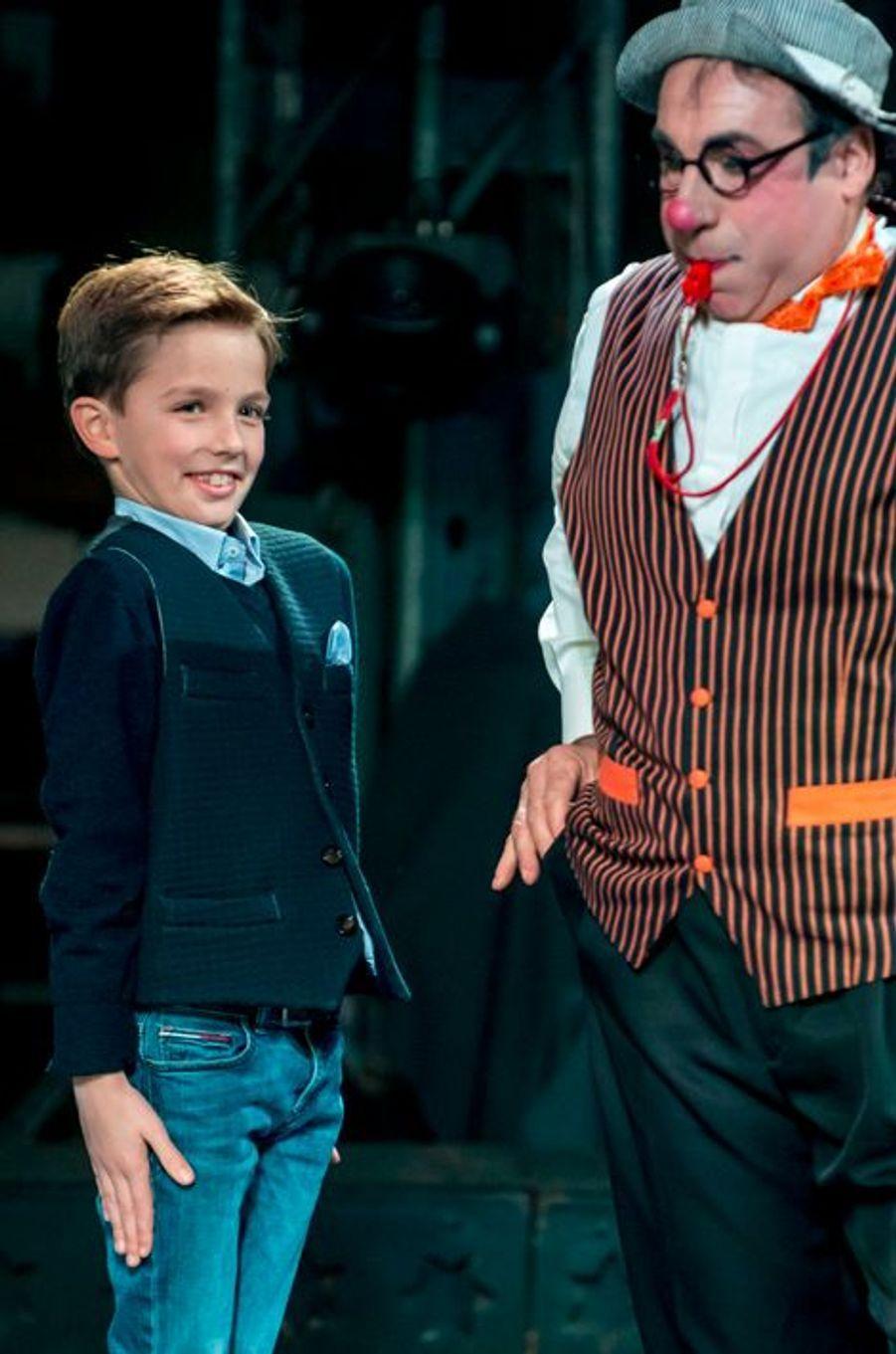 Le prince Nicolas de Belgique au cirque Bouglione à Bruxelles, le 5 décembre 2015