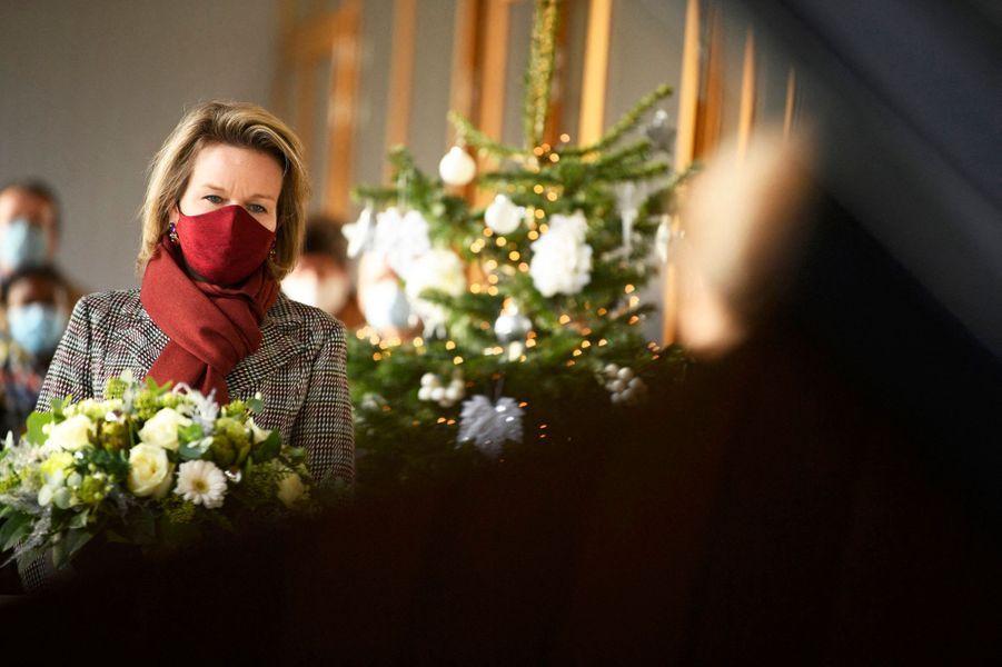 La reine des Belges Mathilde à Jette, le 15 décembre 2020