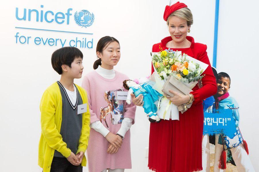 La reine des Belges Mathilde à Séoul, le 27 mars 2019