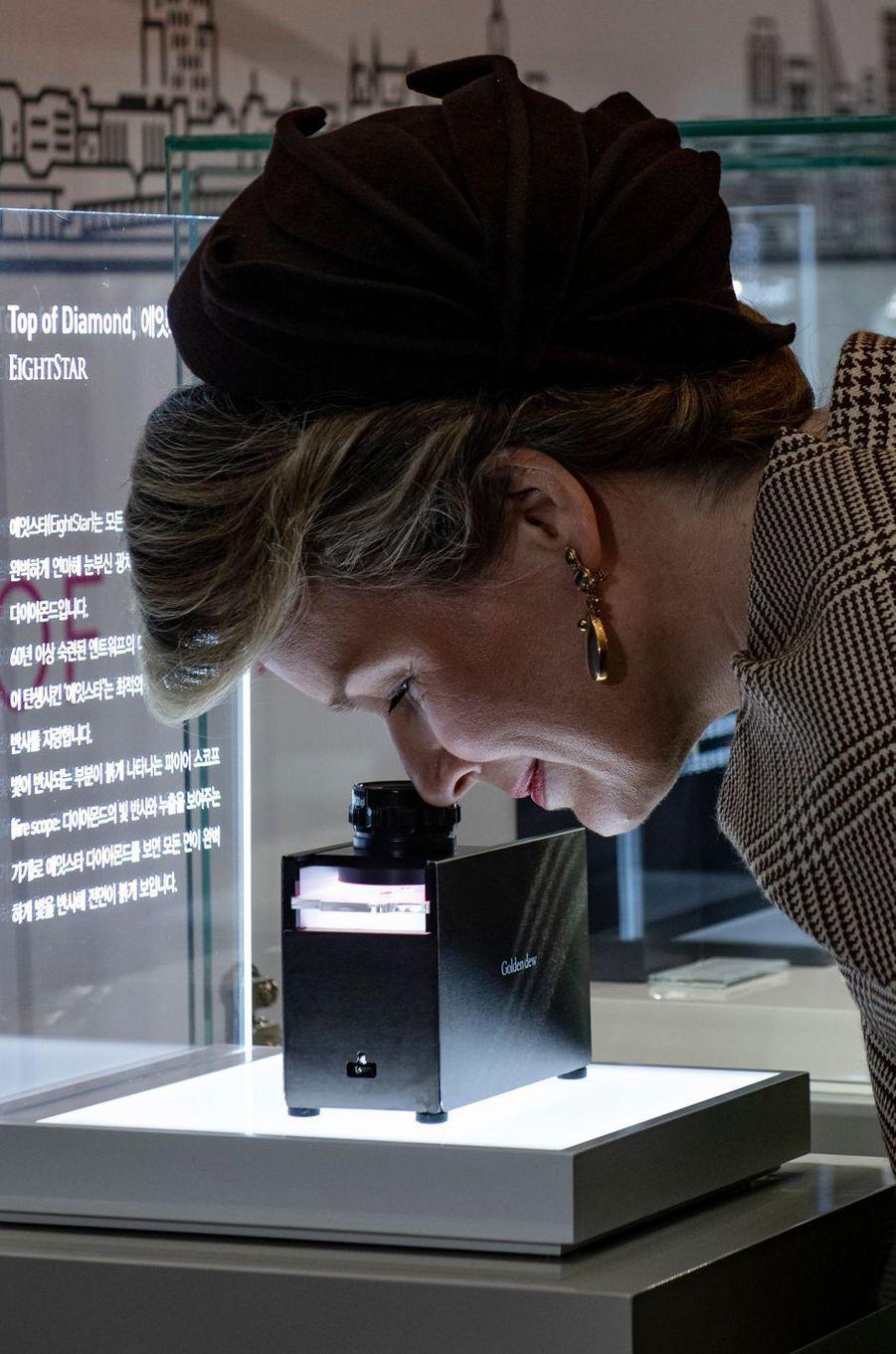 La reine des Belges Mathilde à Séoul, le 28 mars 2019