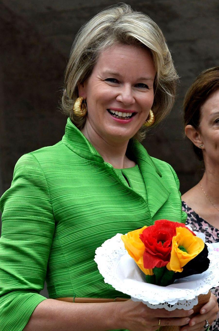 La reine Mathilde de Belgique à Oostduinkerke, le 4 septembre 2018