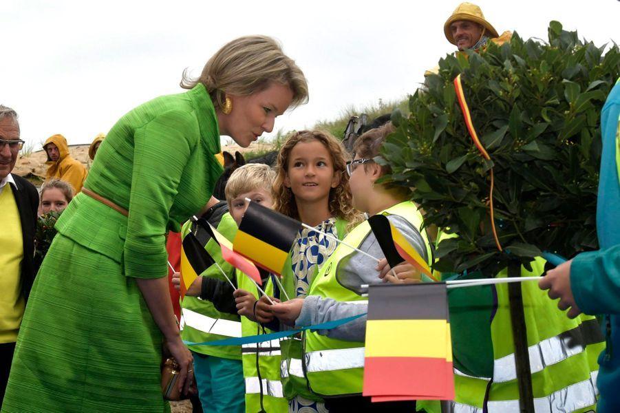 La reine Mathilde de Belgique, le 4 septembre 2018 à Oostduinkerke