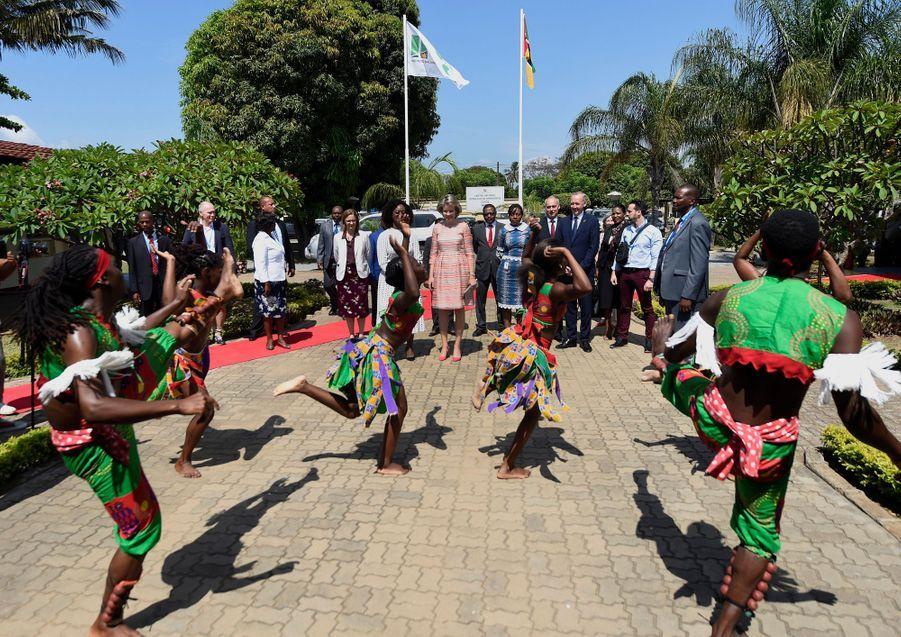 La reine des Belges Mathilde à l'INGC à Maputo le 6 février 2019