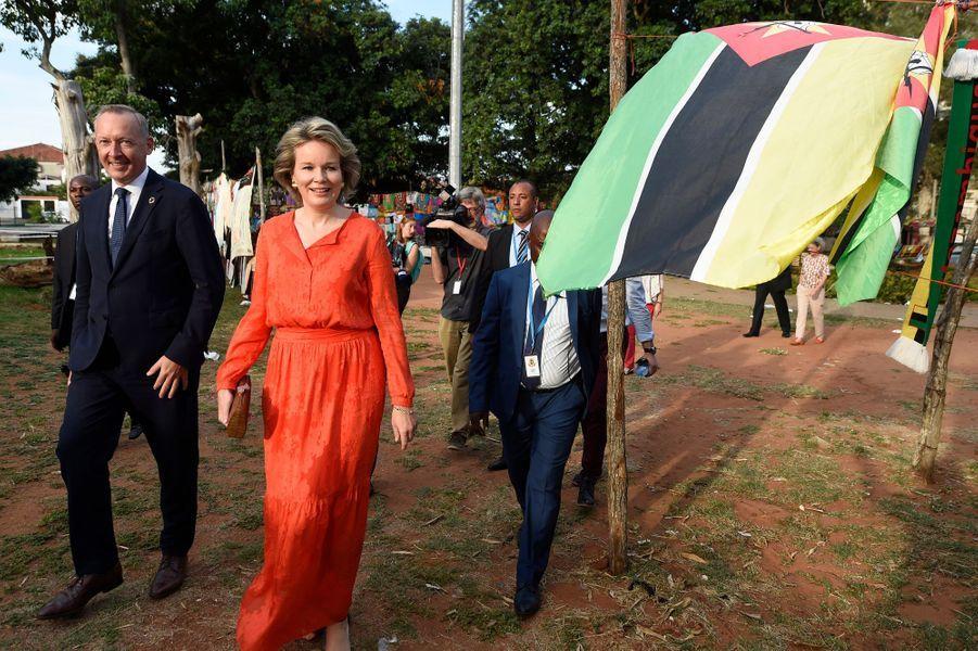 La reine des Belges Mathilde à l'INGC à Maputo, le 6 février 2019