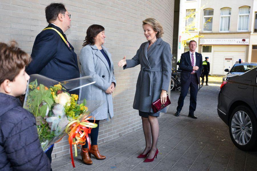 La reine des Belges Mathilde, le 19 novembre 2019 à Berchem