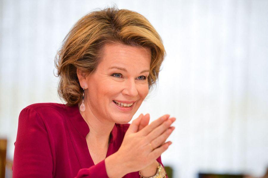 La reine Mathilde de Belgique à Berchem, le 19 novembre 2019