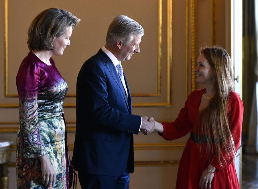 La reine Mathilde et le roi des Belges Philippe à Bruxelles, le 20 novembre 2019