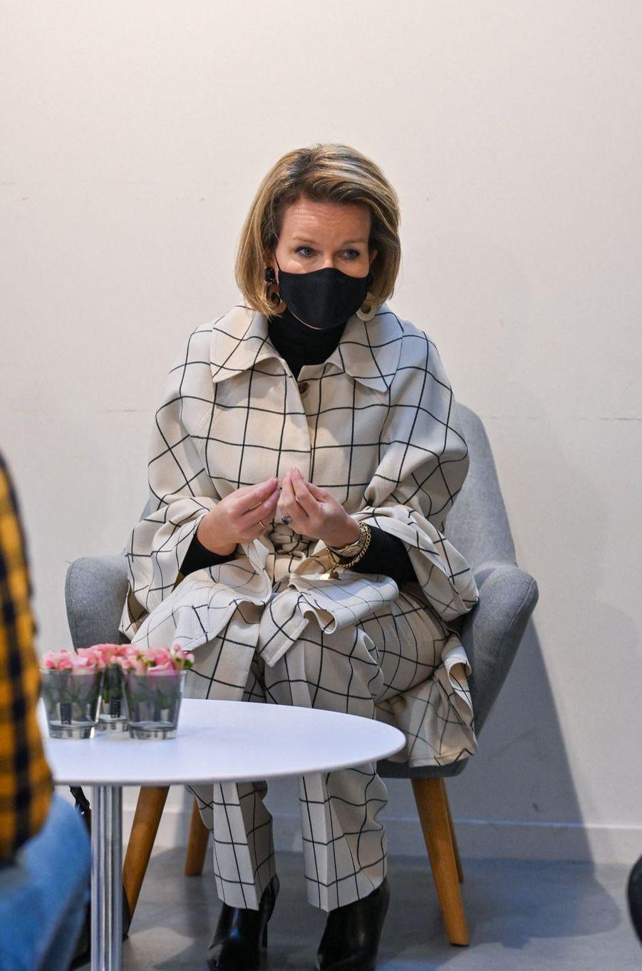 La reine des Belges Mathilde à Beernem, le 3 décembre 2020