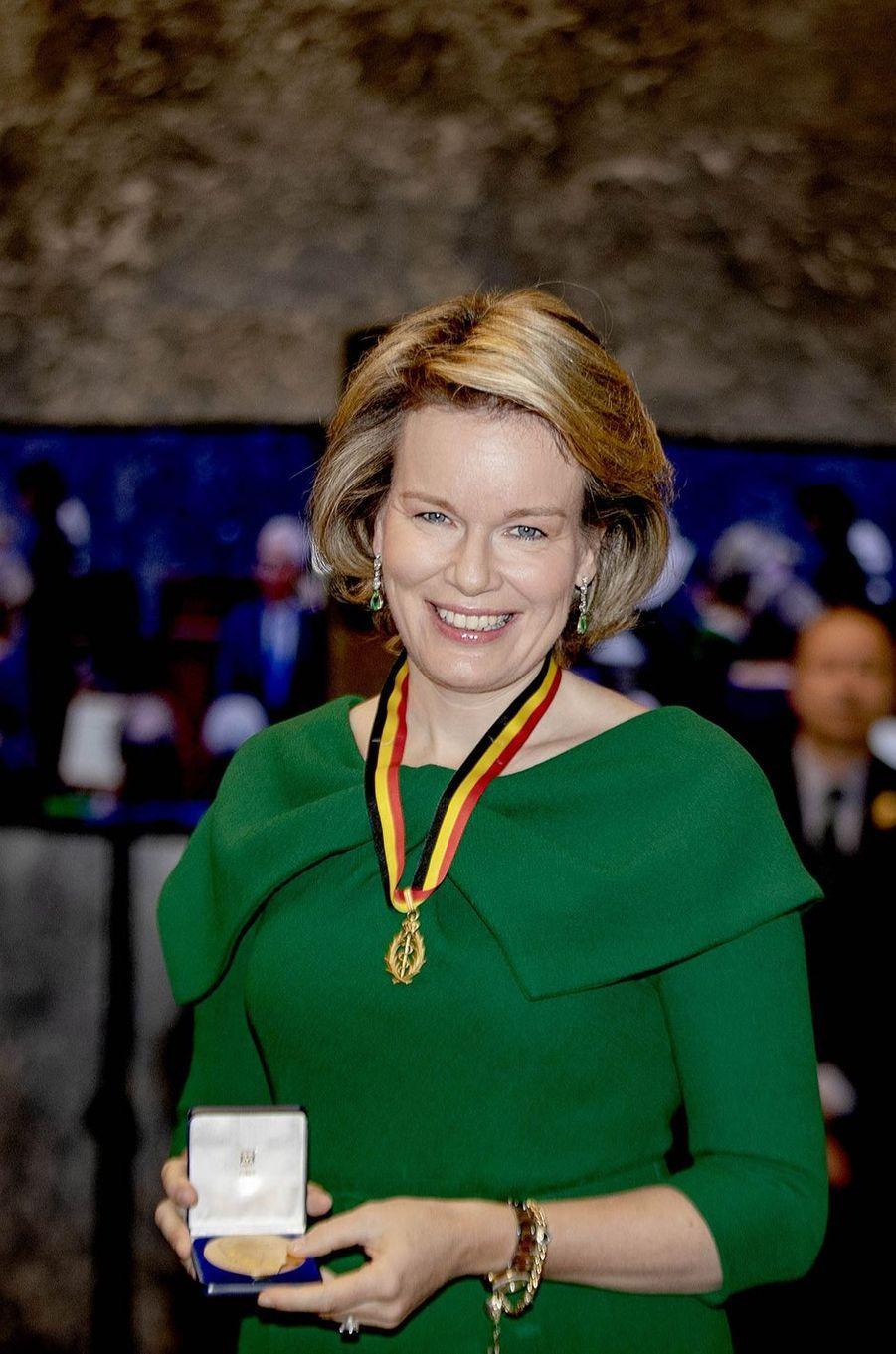 La reine des Belges Mathilde à Bruxelles, le 12 février 2019
