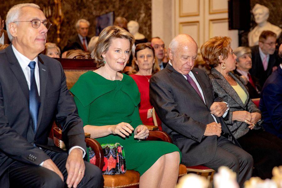 La reine des Belges Mathilde, le 12 février 2019 à Bruxelles