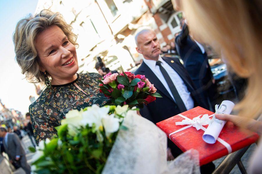 La reine Mathilde de Belgique à Louvain, le 8 novembre 2018