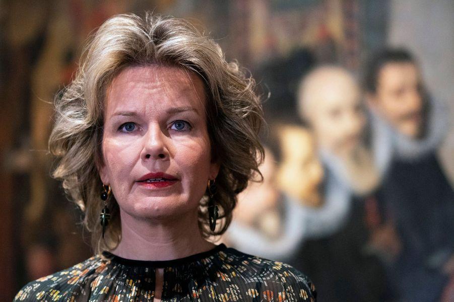 La reine des Belges Mathilde à Louvain, le 8 novembre 2018