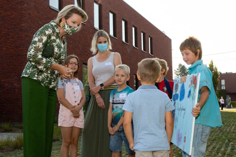 La reine Mathilde de Belgique à Lievegem, le 15 septembre 2020