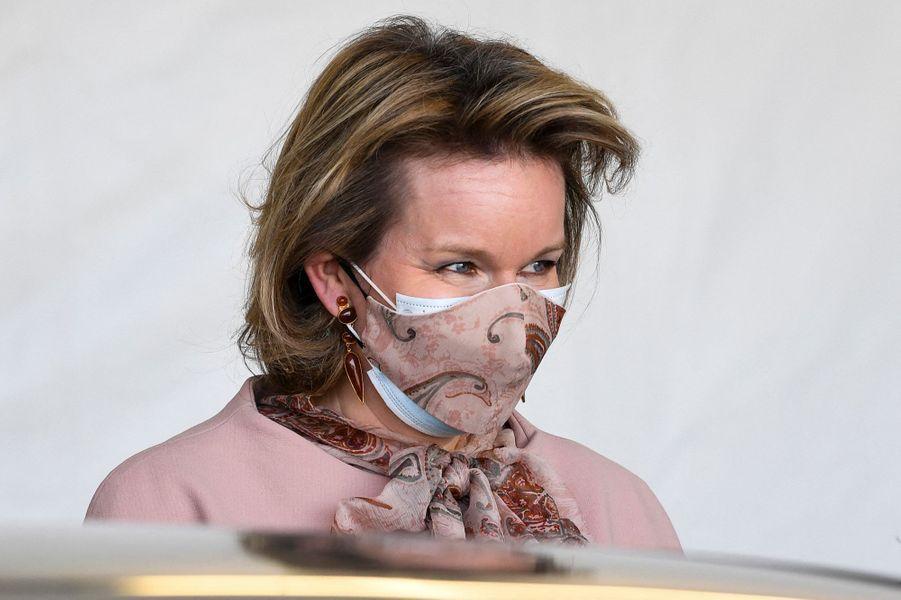 La reine des Belges Mathilde à Ypres, le 12 février 2021