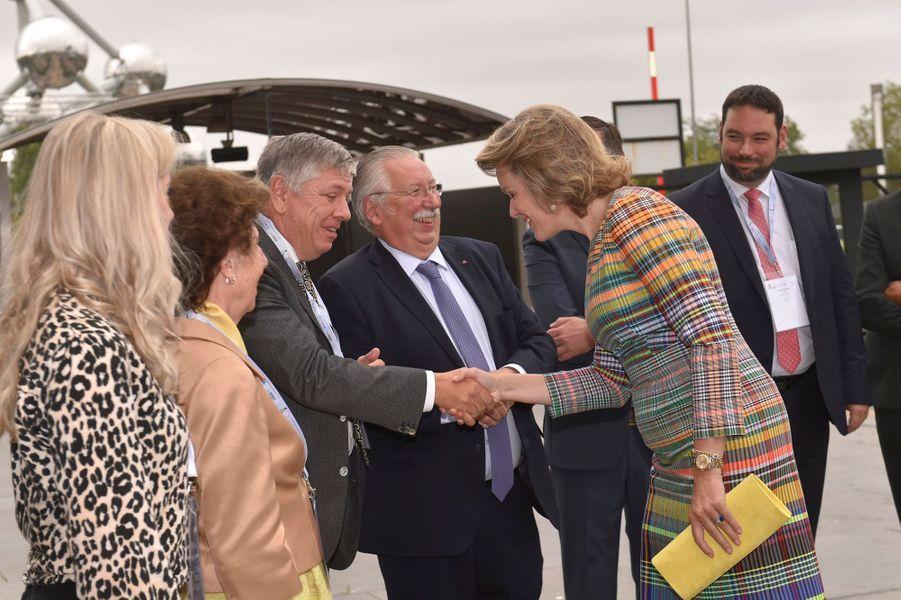 La reine des Belges Mathilde au parc des expositions de Bruxelles, le 13 septembre 2019