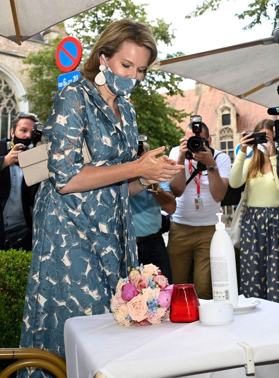 La reine des Belges Mathilde à Bruges, le 16 juin 2020