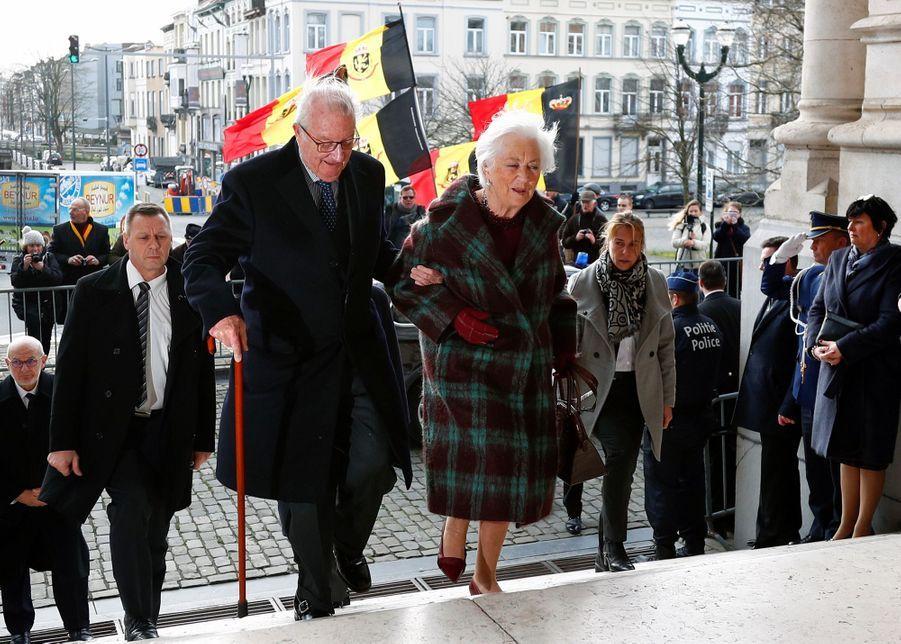 L'ancien roi des Belges Albert II et l'ancienne reine Paola à Laeken, le 17 février 2020