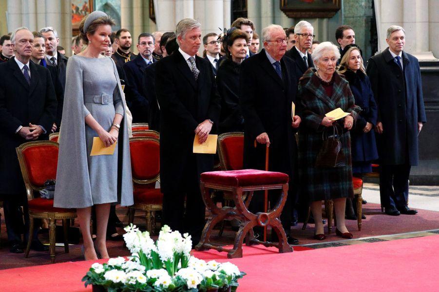 La famille royale de Belgique à Laeken, le 17 février 2020