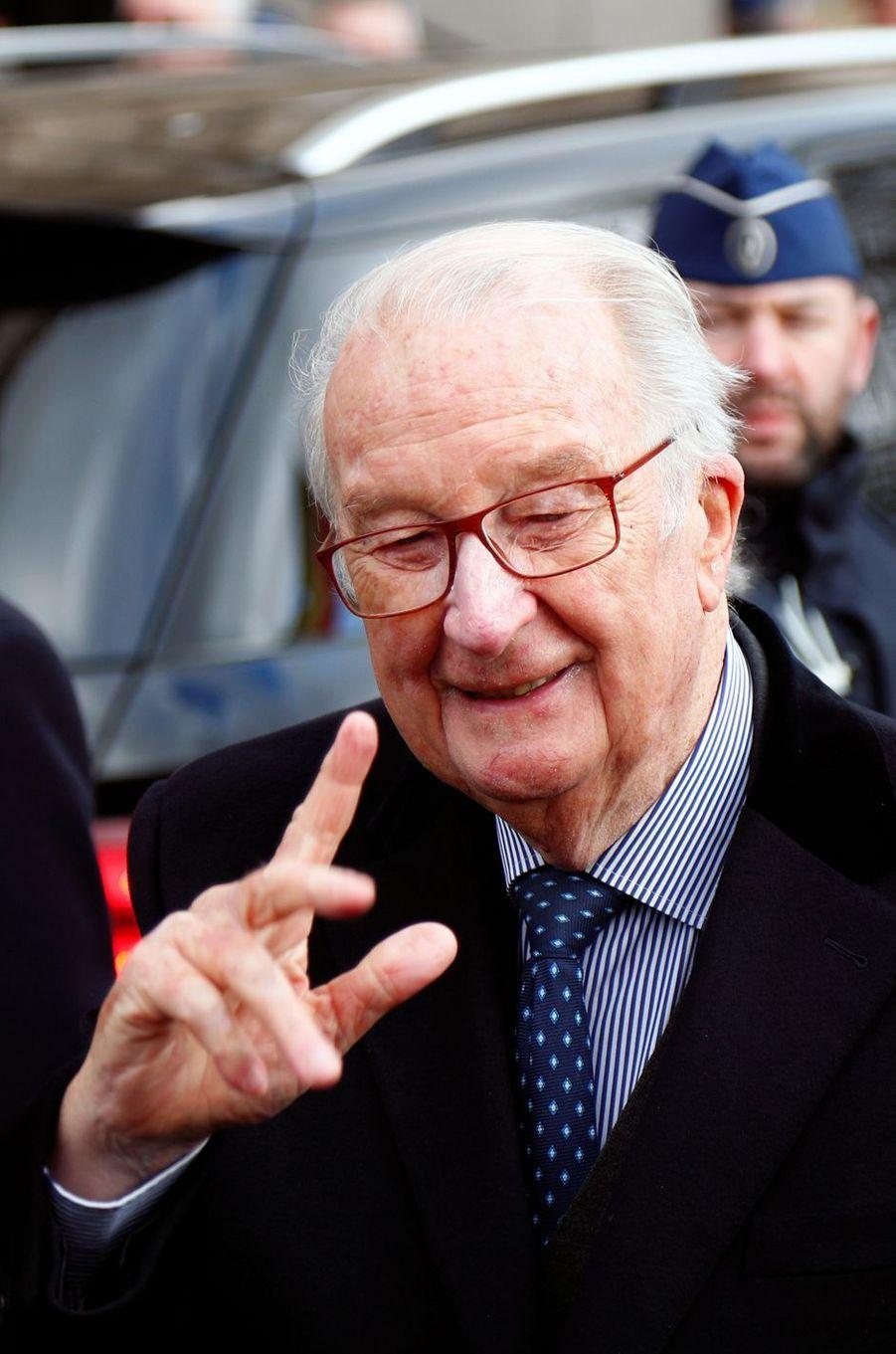 L'ancien roi des Belges Albert II à Laeken, le 17 février 2020
