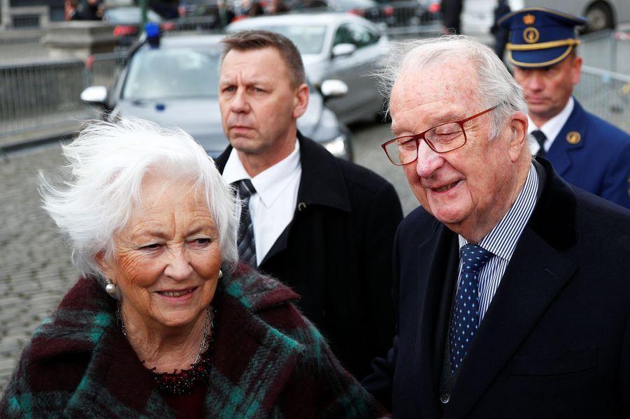 L'ancienne reine Paola et l'ancien roi des Belges Albert II à Laeken, le 17 février 2020