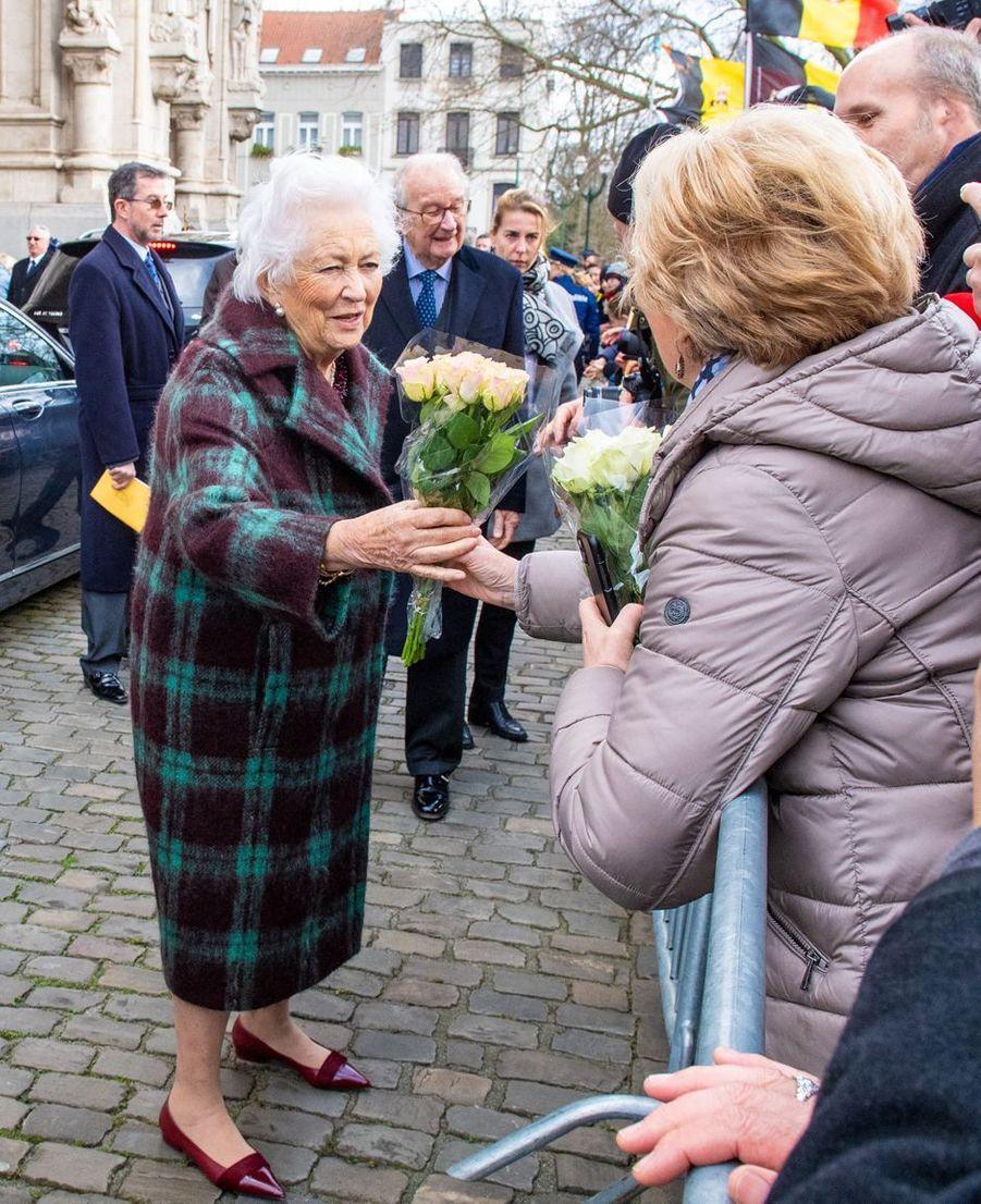 L'ancienne reine des Belges Paola à Laeken, le 17 février 2020