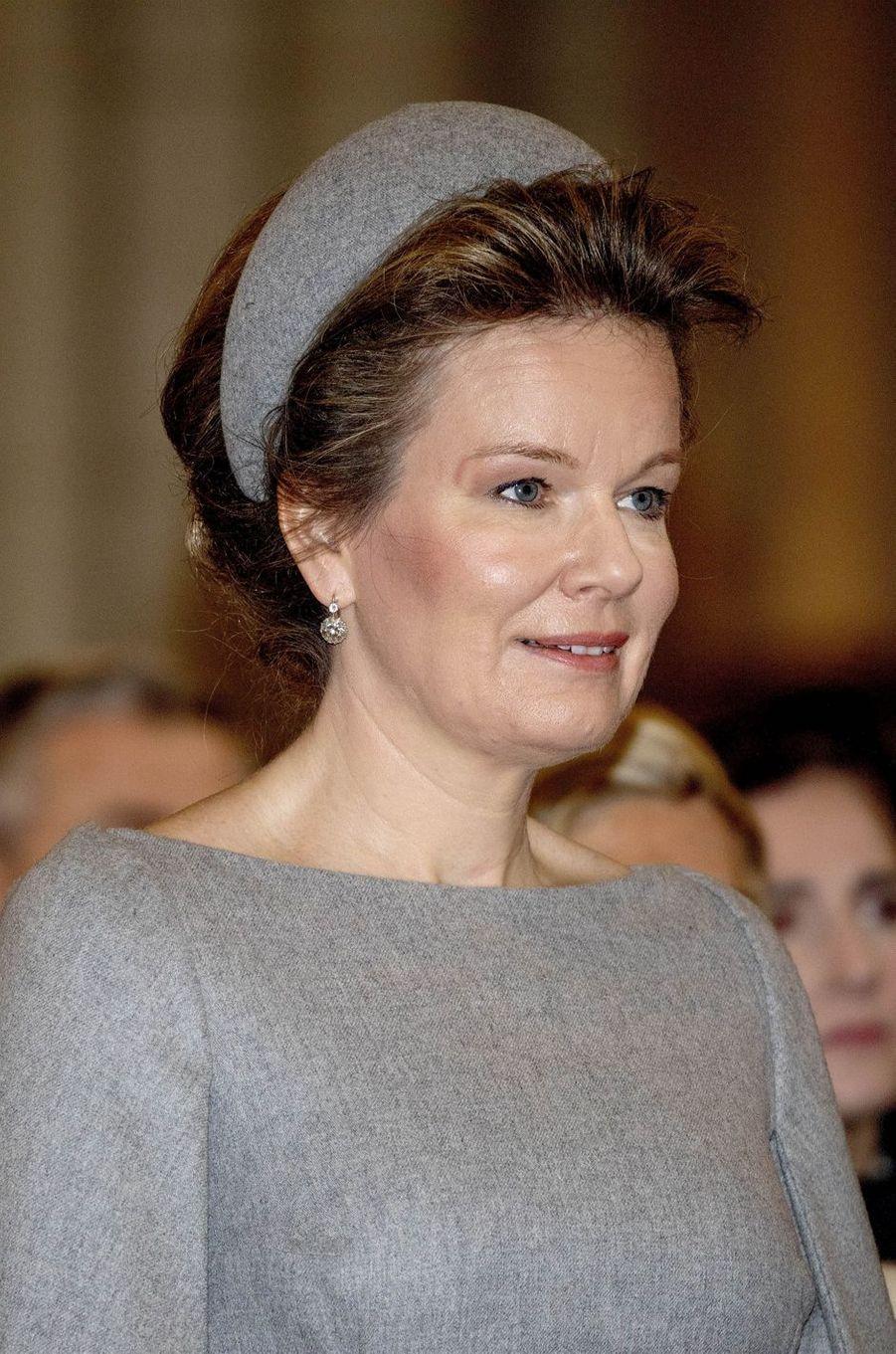 La reine des Belges Mathilde à Laeken, le 17 février 2020