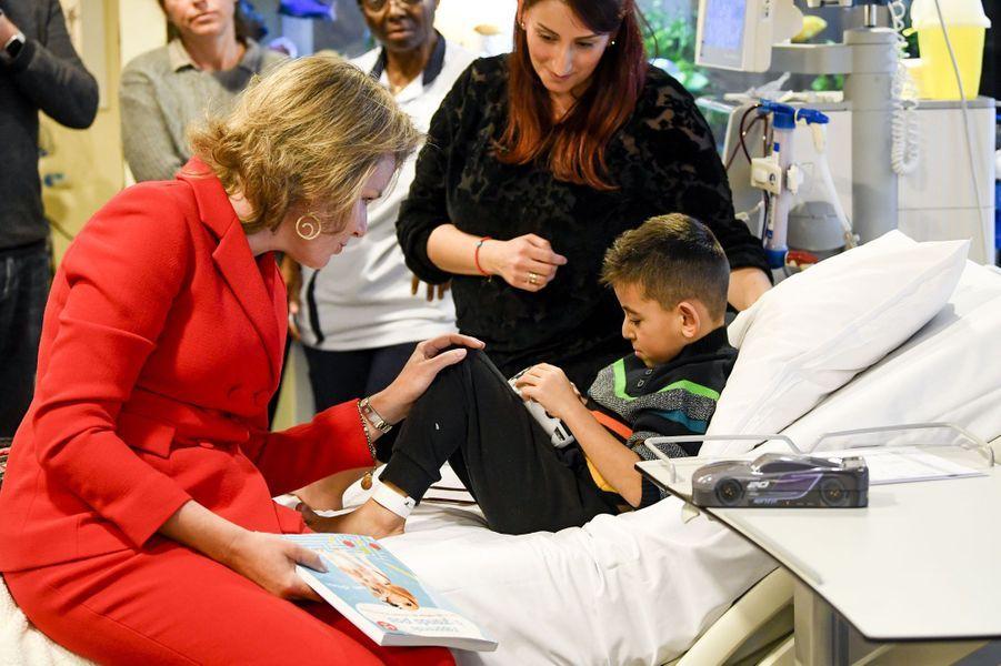 La reine Mathilde de Belgique à Laeken, le 6 décembre 2019