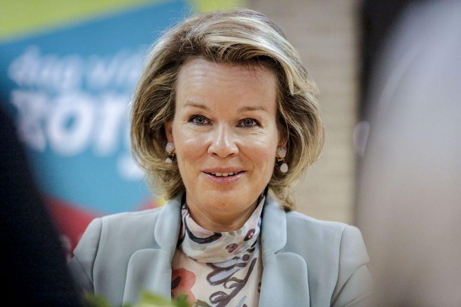 La reine Mathilde de Belgique à Deinze, le 15 mars 2019