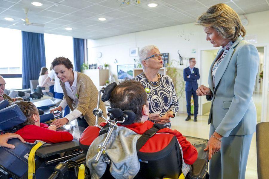 La reine des Belges Mathilde à Deinze, le 15 mars 2019
