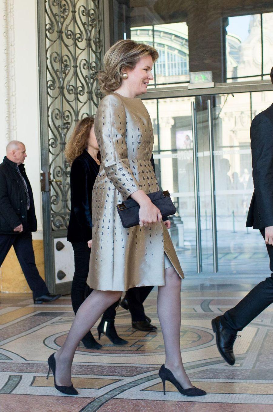 La reine des Belges Mathilde à Paris, le 9 janvier 2019