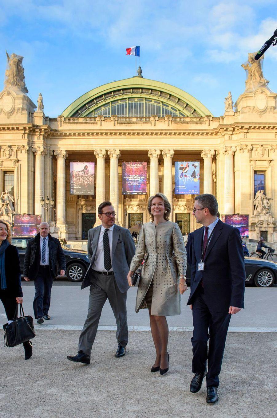 La reine des Belges Mathilde, le 9 janvier 2019 à Paris