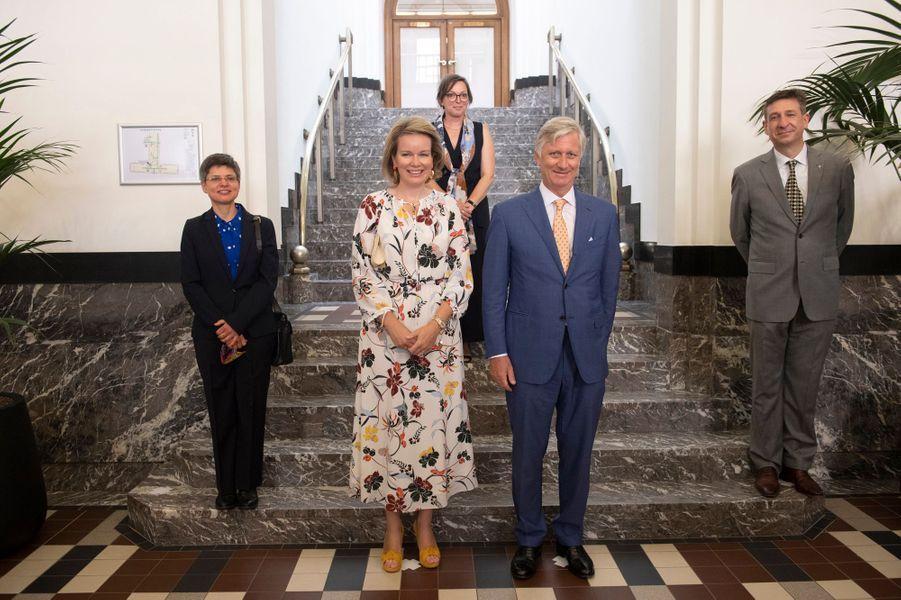 La reine Mathilde et le roi des Belges Philippe à Anvers, le 23 juin 2020