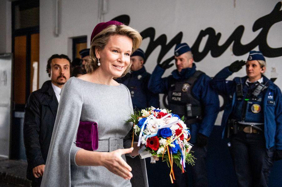 La reine des Belges Mathilde à Molenbeek, le 20 novembre 2018