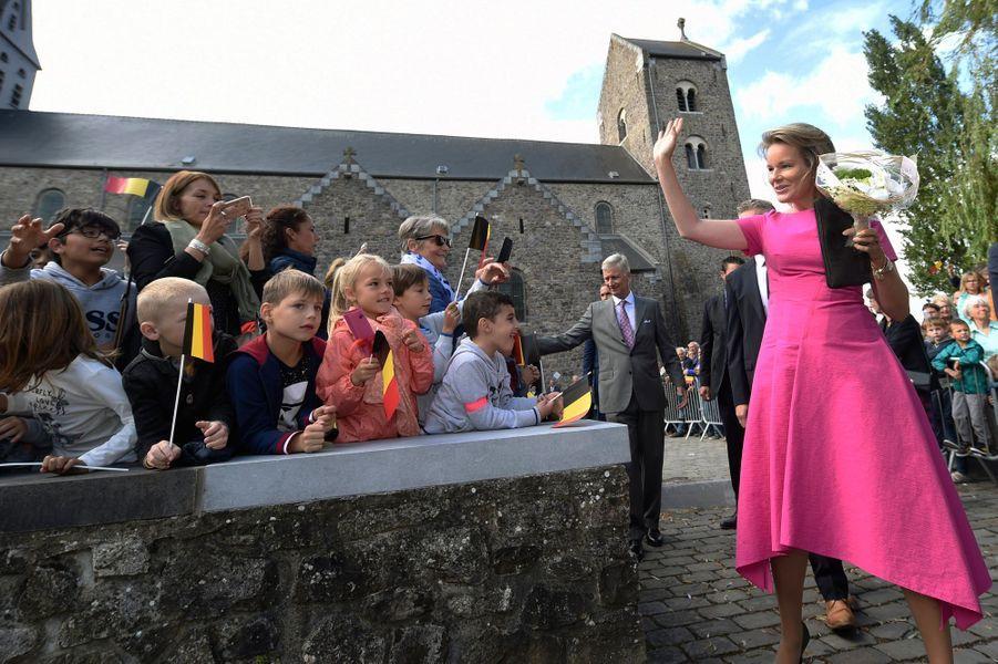 La reine Mathilde et le roi des Belges Philippe à Lobbes, le 5 septembre 2019