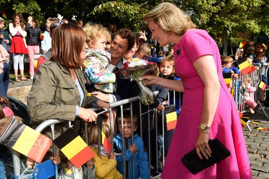 La reine des Belges Mathilde à Lobbes, le 5 septembre 2019