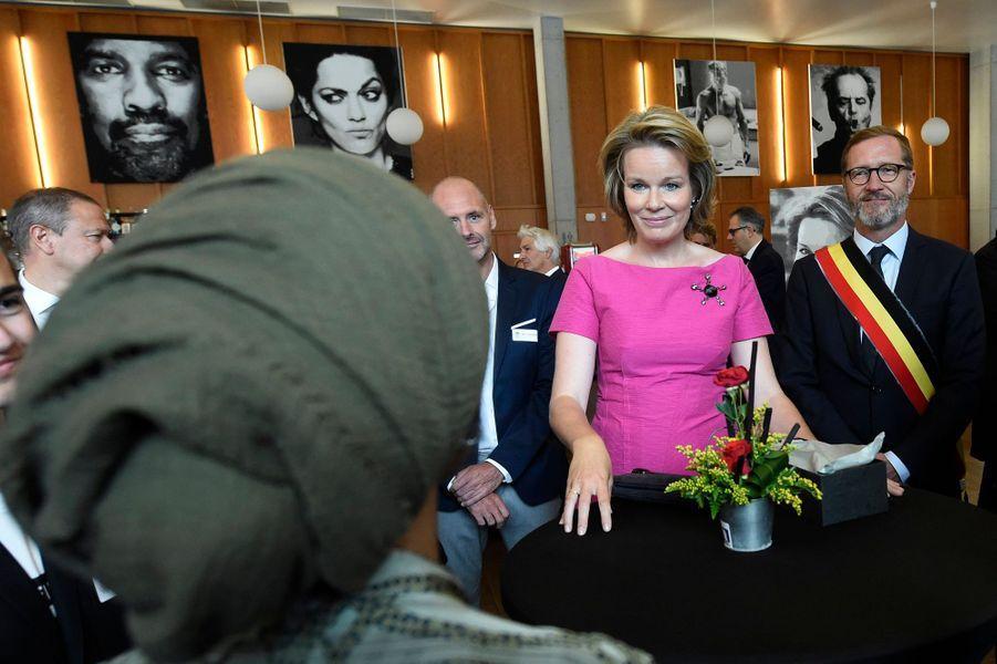 La reine Mathilde et le roi des Belges Philippe à Charleroi, le 5 septembre 2019