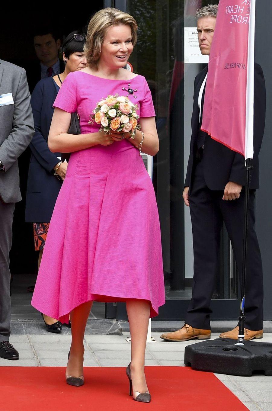 La reine des Belges Mathilde à Charleroi, le 5 septembre 2019