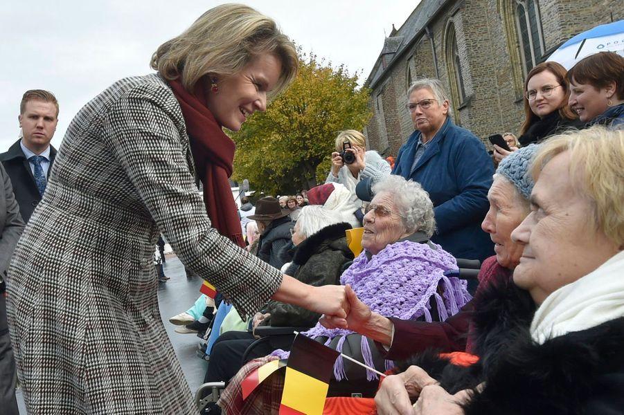 La reine Mathilde de Belgique à Pittem, le 6 novembre 2019