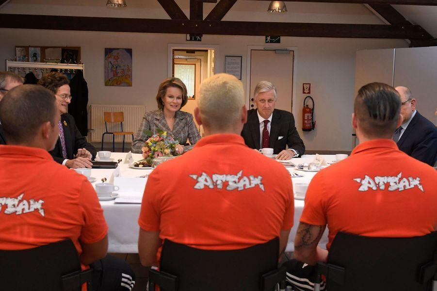 La reine Mathilde de Belgique et le roi des Belges Philippe à Ruiselede, le 6 novembre 2019
